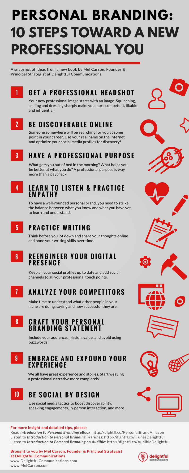 Your Personal Branding Strategy In 10 Steps (Infographic)   Epbe  Brand Strategist Resume